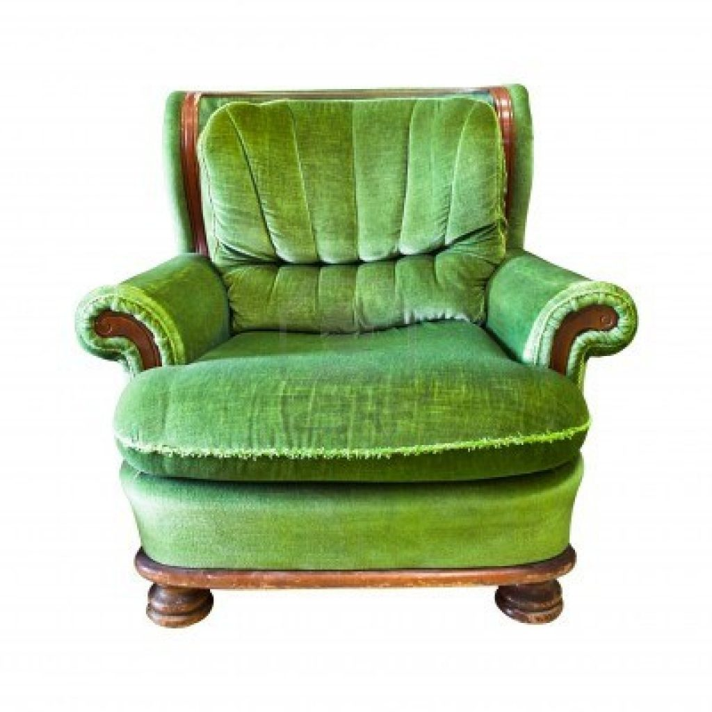 13601776-vintage-green-armchair-isolated