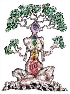 chakra tree mixed media by Alissa Allery_tn