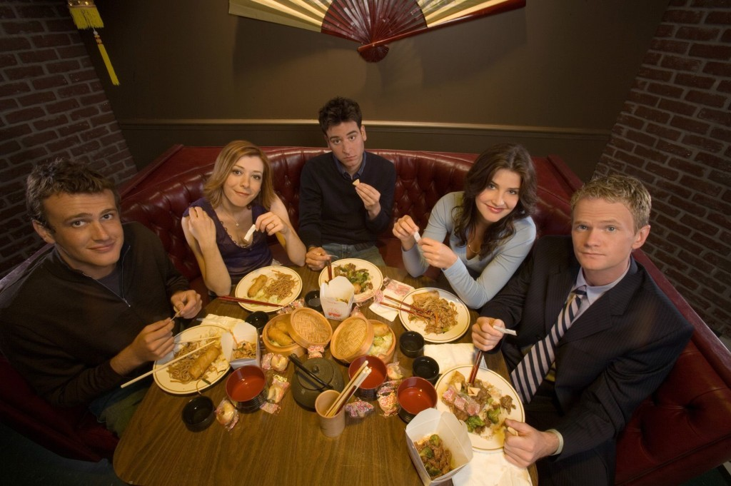 From l-r, Jason Segel, Alyson Hanningan, Josh Radnor, Cobie Smulders and Neil Patrick Harris of HOW I MET YOUR MOTHER Photo: Monty Brinton/CBS ?2005 CBS Broadcasting Inc. All Rights Reserved.