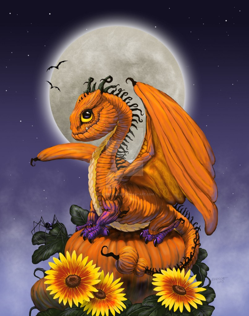 pumpkin_dragon_by_smorrisonart-d6zjd4w